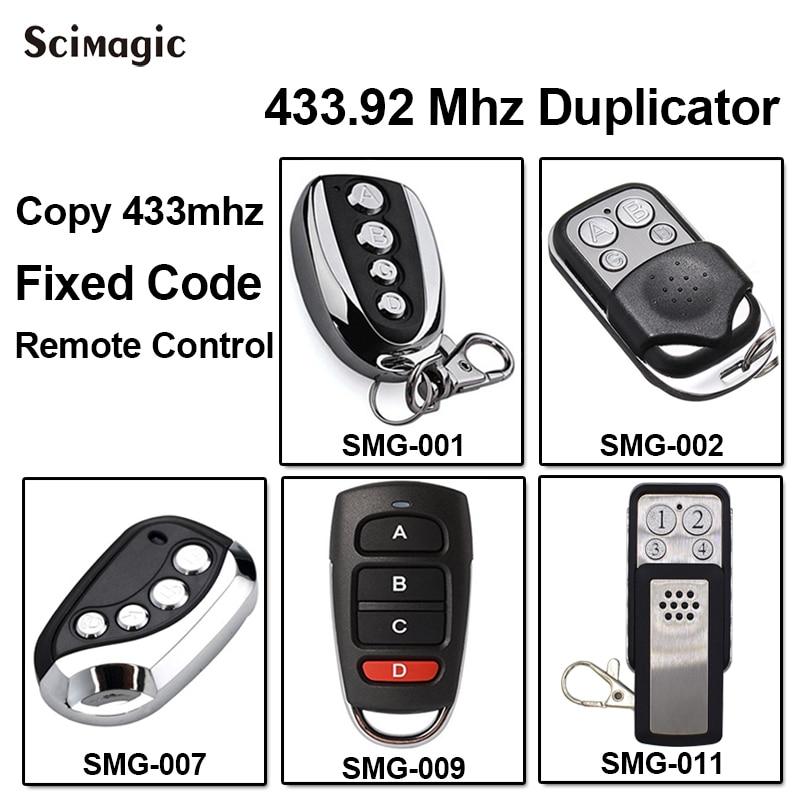 433 MHz Clone Remote Control key Fob Universal garage gate door gate Duplicateur