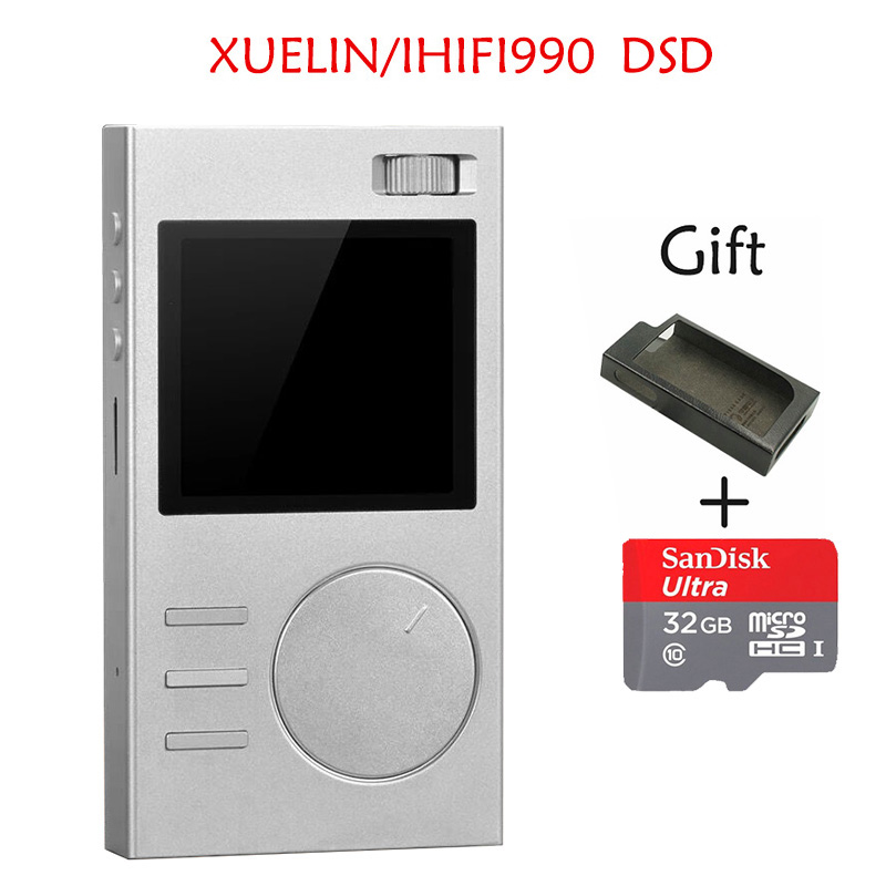 2017 New XUELIN IHIFI990 DSD Portable Lossless Hifi Audio MP3 Music Player With HD OLED Screen Support APE/FLAC/ALAC/WAV/OGG newest aune m1s portable professional lossless music mp3 hifi music player dap supported wam flac dsd ape mp3 alac aac