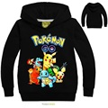 Pokemon Boys Jacket T-shirt Pokemon Children T Shirts Cartoon Pikachu Charmander Boy Clothes Pocket Monster Boys Clothing DC1056