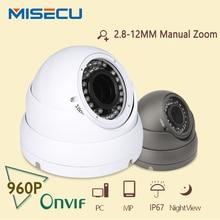MiSecu 1.3MP Cámara IP HD 960 P IR 2.8-12 lente de zoom Onvif HI3518E P2P Plug & Play a prueba de agua al aire libre del CCTV Cámara de Vigilancia de visión