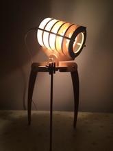 Geek Library Alien Invaders Wooden Assembled DIY Desk Lamp Bedroom Study Reading Lamp