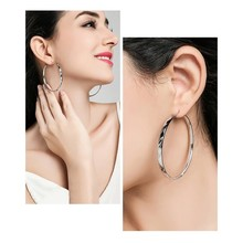 Wjpeng Simple Large Circle Earrings Ladies Announcement Fashion Jewelry Big Circle Earrings Free Shipping