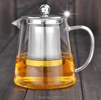 Glass Teapot Heat Resistant Filter Coffee Tea Water Kettle Flower Tea Pot Convenient Kitchen Cup Stainlesssteel liner 750ml