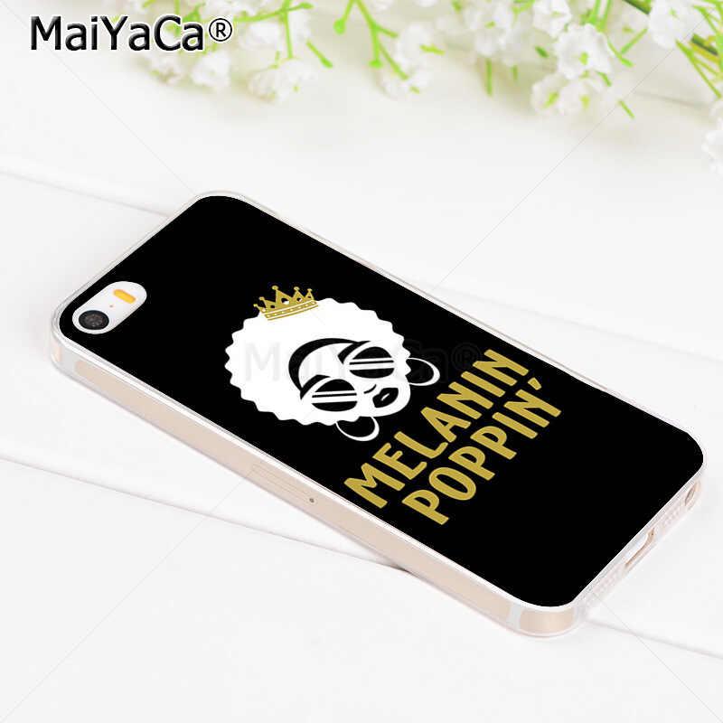 Maiyaca Thời Trang Vàng Hắc Tố Poppin Đen Trong Suốt TPU Ốp Lưng Điện Thoại Cho iPhone 8 7 6S Plus X 5 5S SE 5C Bao