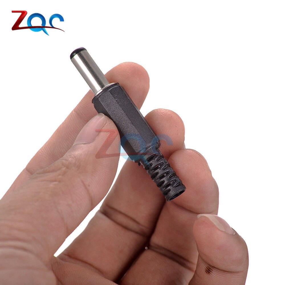 10 шт. DC контакт разъема питания 2,1x5,5 мм Гнездовой разъем Jack+ штекер Jack гнездо адаптер PCB Крепление DIY разъем адаптера 2,1X5,5