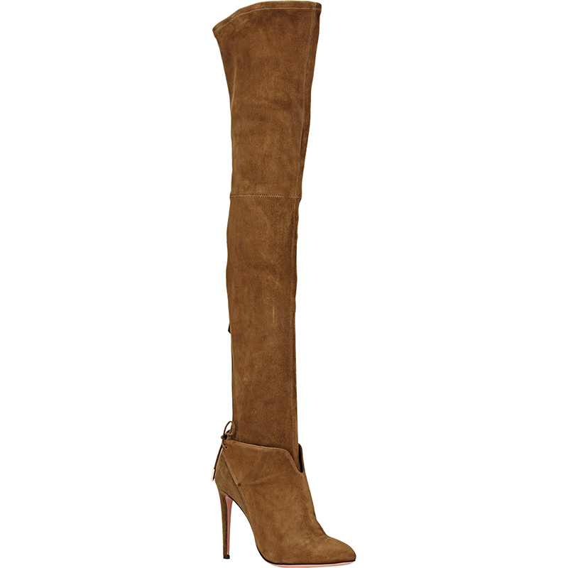 2018 New Brand Winter Women Long Boots Ultra High Heels Knee-length Boots Zipper Genuine Leather Motorcycle Thigh High Botas