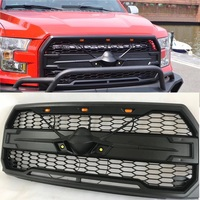 LED FRONT RACING GRILLS GRILLE ABS MATTE BLACK MASK FIT FOR FORD F 150 F150 GRILL EXTERIOR ACCESSORIES 2015 2017
