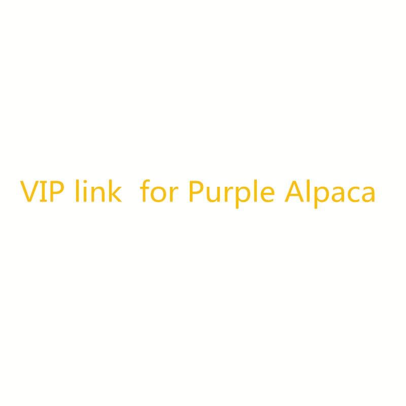 Vip link für Plüsch Lila Alpaka 27/35 cm