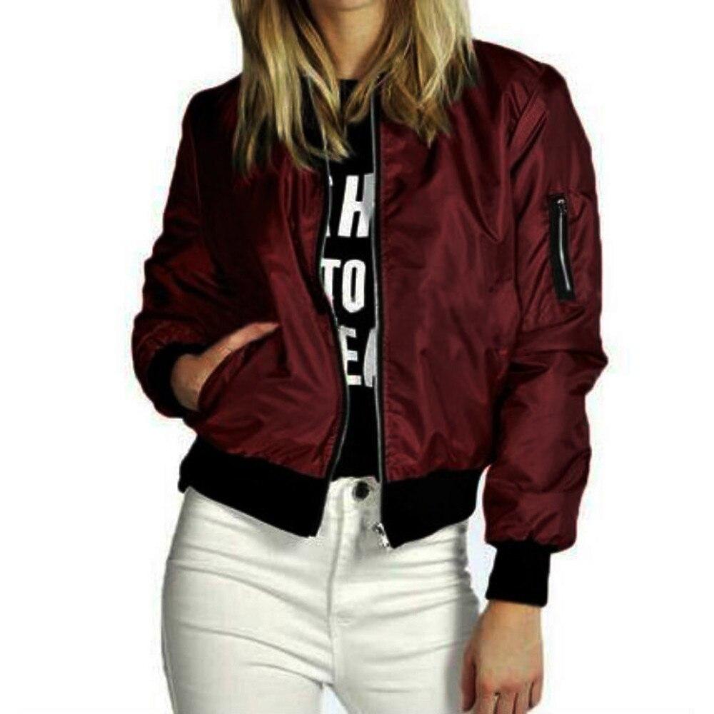 women Long Biker Motorcycle Zipper Slim Soft Short Basic Jacket Coat bomber Pockets jacket