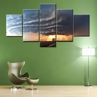 New Grassland Highway Home Decor Wall Art Painting Hurricane Picture Print On Canvas High Quality Landscape