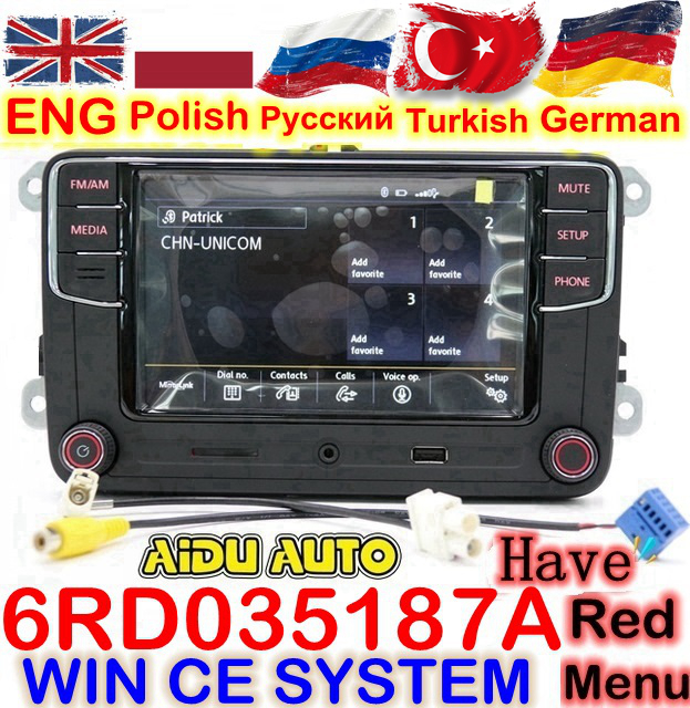 RCD330 RCD330G Plus 6.5 MIB Radio RCD510 RCN210 Stereo FOR VW Golf 5 6 Jetta MK5 MK6 CC Tiguan Passat B6 B7 Polo Touran 187A