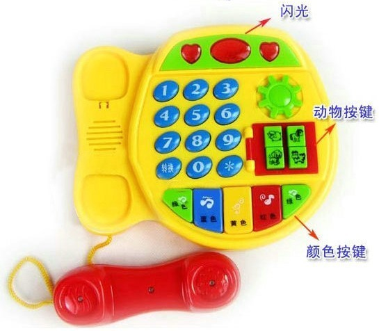 Toy cartoon music phone multifunctional electronic keyboard music baby learning machine educational toys