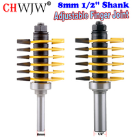 1PC 8mm 1 2 Shank Brand New High Quality Adjustable Finger Joint Router Bit Ndustrial Grade