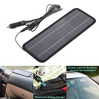 12V 4.5V Solar Car Battery Charger Portable SunPower Solar Panel Trickle Charger With Cigarette Lighter Plug, Battery Charging C