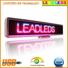 New Arrival High Quality RGB LED Car Sign Programmable Message Moving Scrolling LED Display Board Outdoor For Car Taxi Window
