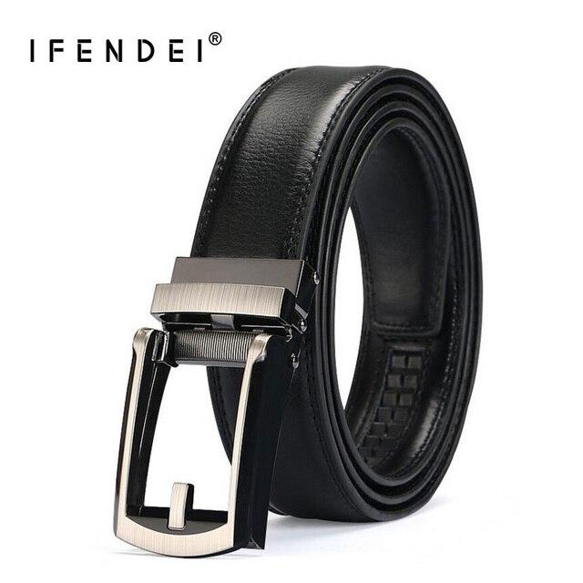 IFENDEI Confort Cliquez Ceinture Pour Hommes Costume Taille Ceintures Split  En Cuir D affaires Sangle 4e7c170b368