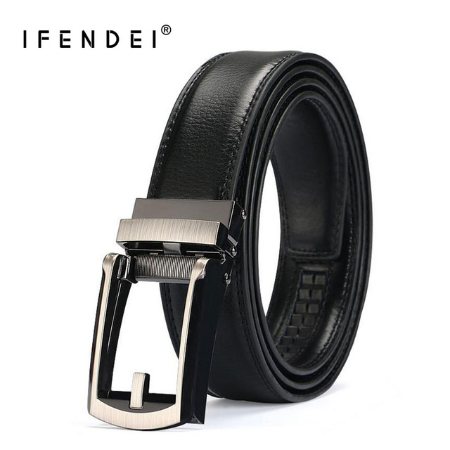 1bbdc3760be IFENDEI confort cliquez sur ceinture pour hommes costume taille ceintures  Split cuir Business sangle mâle mode
