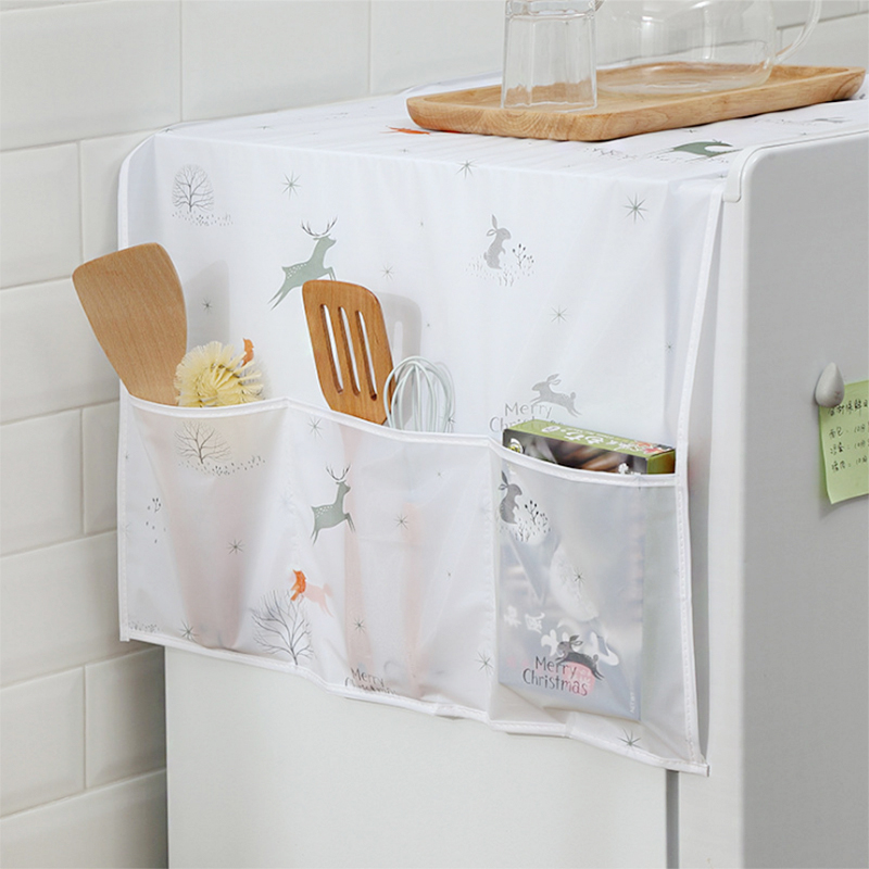 Waterproof Washing Machine Coat Dustproof Refrigerator Cover European Pattern Sun Dust Protection Case Household Accessories