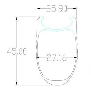 Image 2 - SUPER LEGGERO 1420g 45 millimetri copertoncino figura di U bici da strada in fibra di carbonio etero pull fossette wheelset Powerway mozzi R36 fossetta ruote