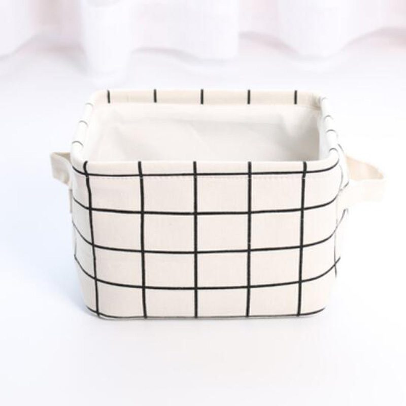 Nordic Canvas Storage Basket Portable Laundry Baskets Home Desktop Storage  Bin Box Kids Toys Sundries Organizer In Storage Baskets From Home U0026 Garden  On ...