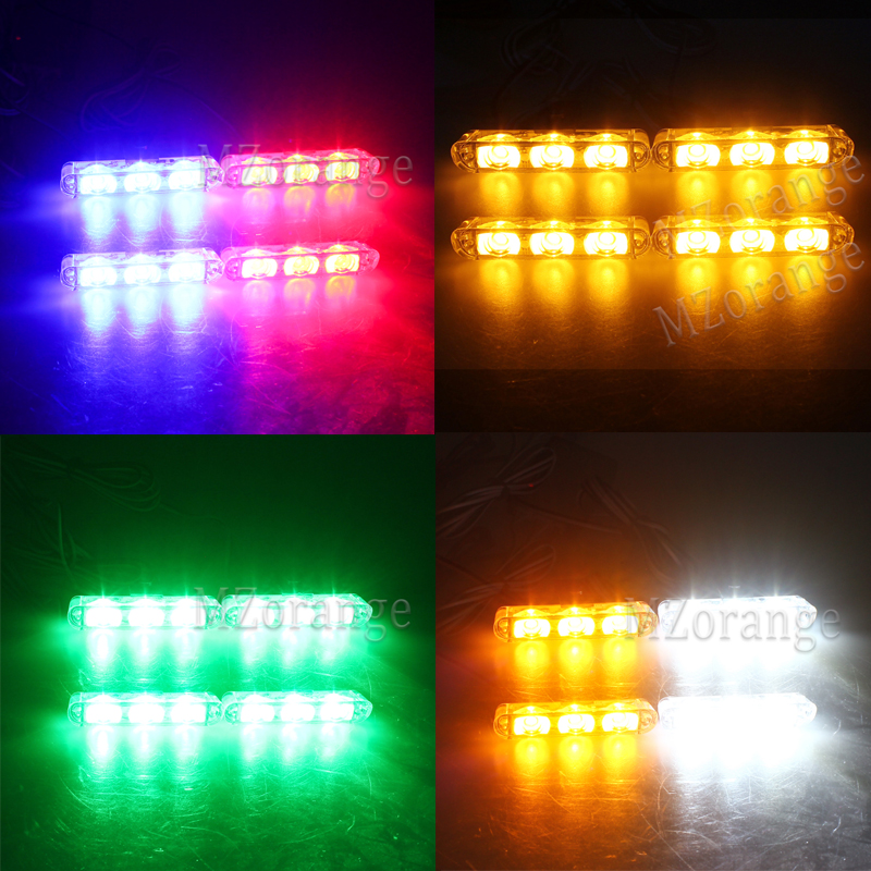 Wireless Remote 4x3 led Ambulance Police light DC 12V Strobe Warning light for Car Truck Emergency Light Flashing Firemen Lights in Car Light Assembly from Automobiles Motorcycles
