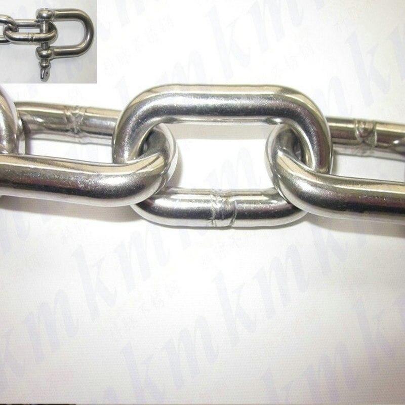 Sus304 Geschweißt Kette 10mm Kette 1 Meter Edelstahl Lange-link Ketten Hohe Qualität Hebe Kette