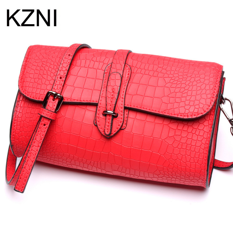 KZNI genuine leather crossbody bags for women famous brand ladies hand bags borse donna  ...