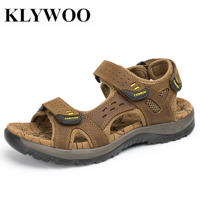 Men Stylish Breathable Plus Size Leather Sandals outlet for sale 2PwnhkRyu0