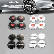 Boa qualidade chrome 4 pçs 65mm emblema do carro emblema roda hub etiqueta para vossen tampas centro roda automóvel cobre 45mm 56mm estilo do carro