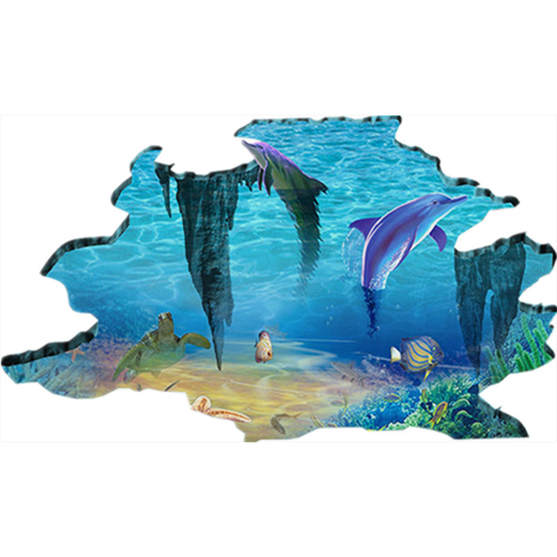 Finding Nemo 3d Hd Break Wall Anime Stickers Arctic Glacier Dolphins Vinyl Decals Home Decoration Bathroom Murals Free Shipping