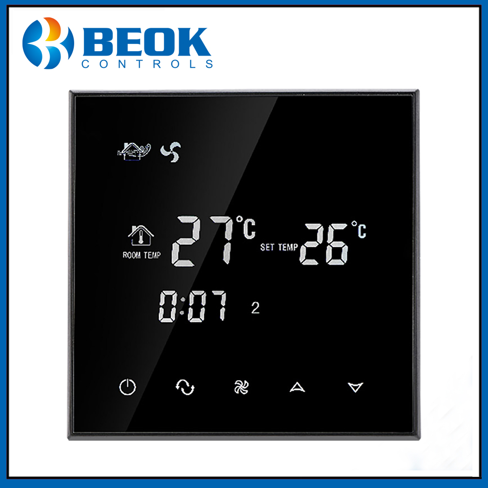 Beok TGT70-AC Central Air Conditioning Thermostat Temperature Switch Controller 2 Pipe Fan Coil Room Thermostat
