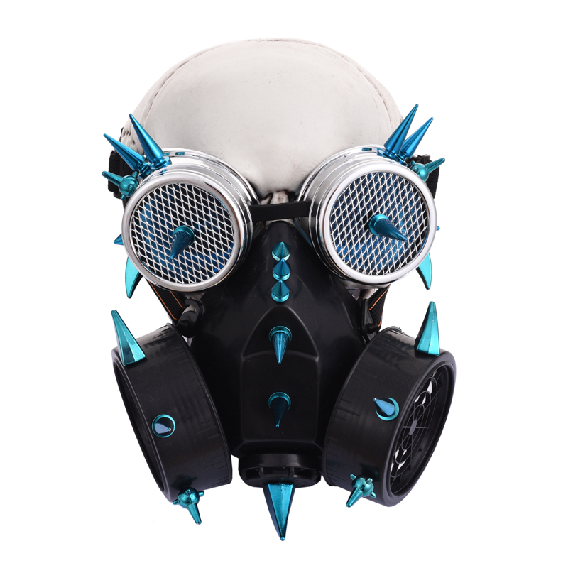 Fashion Pu Leather Inside Breathable Double Net Cool Men Masks Steampunk Classic Black Gas Mask Gothic Cosplay Punk Rave S-270 Costume Accessories Back To Search Resultsnovelty & Special Use
