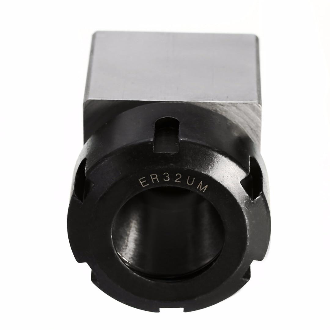 1pc Square ER-32 Chuck Collet Block Holder 3900-5124 Silver Black For Lathe Engraving Machine 1pc square er40 collet chuck block holder 3900 5125 for cnc lathe engraving machine cross hole drilling