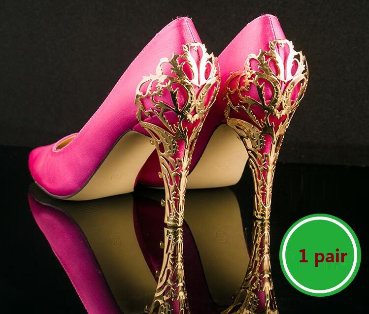 Shoes Accessories Repair Heel Metal Curling Thin High-heeled Shoes Decorative Metal Sheet With Metal Sequins/ 1 Pair/lot