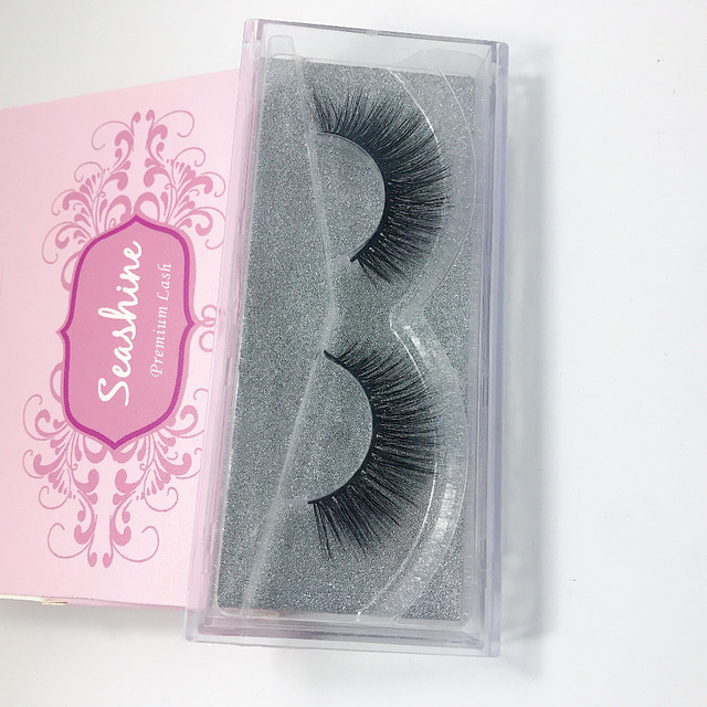db0c63bcdca 6 Pairs Seashine Top Quality Mink Lash Handmade Mink Lash fans Glitter  Packaging Customized box Fake 3D Mink Lash Free Shipping
