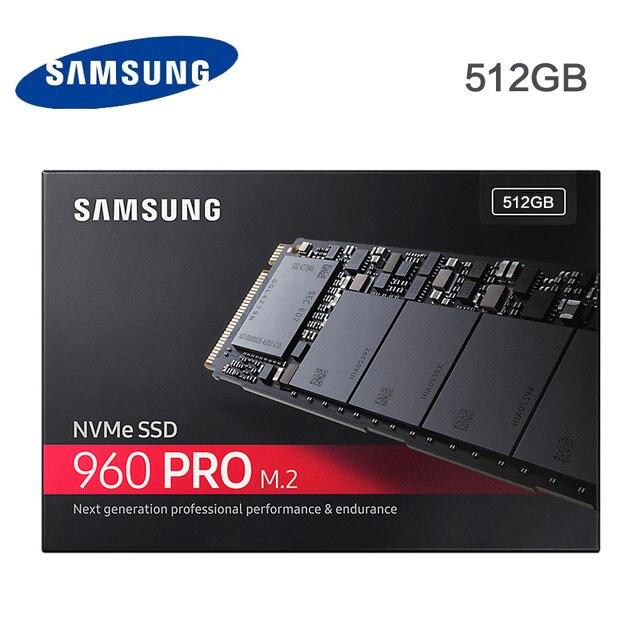 Samsung 960 PRO 512 ГБ M.2 SSD ТВЕРДОТЕЛЬНЫЙ жесткий диск NVMe MZ-V6P512Z 960 PRO SSD 512 ГБ NVMe
