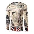 HD-DST марка дизайн 3 D печать Британский флаг майка вскользь уменьшают подходящие толстовки мужская мода топы и тис