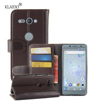 Genuine Cow Leather Case For Sony Xperia XZ2 Compact Cover Phone Bag Shell KLAIDO Phone Accessories