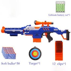 Image 3 - Elektroniczny Submachine pistolet zabawka garnitur dla NERF miękki pocisk Gun Rival Elite Series zabawy na świeżym powietrzu i sportowe zabawki prezent dla dzieci chłopców prezent