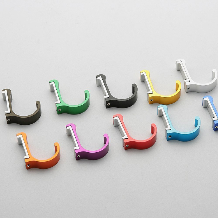 Space Aluminum Modern Wall Coat Hooks for Bathroom kitchen,Colored Clothes  Hat Towel Robe Hook Decorative Hanger 10 Colors-in Robe Hooks from Home ...