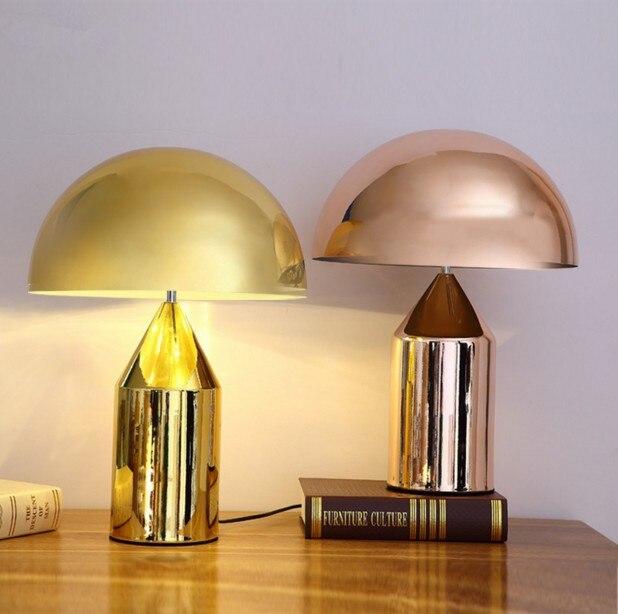 Designer réplique Oluce Atollo Lampe de Table Moderne En Métal Lampe Champignon