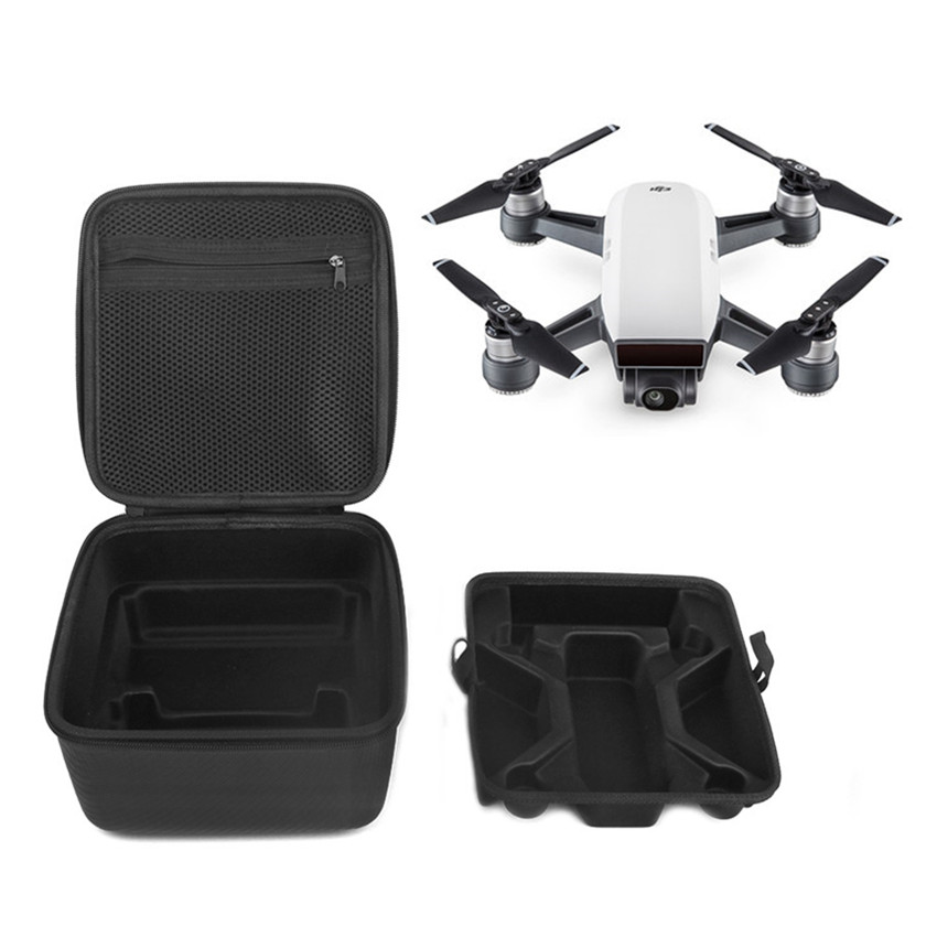 DJI Spark Accessories Waterproof PU Carry Case Hard Shell Storage Box For DJI Spark Drone Quadcopter new black abs plastic gimbal hard case for mini drone dji osmo with custom foam waterproof box for headless drone