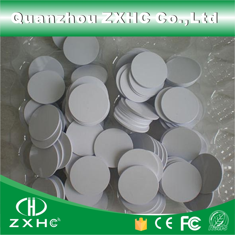 (1000pcs/lot) Waterproof 25mm x 1mm 13.56MHz IC RFID Tag PVC Coin Card Fudan08 Compatible with M1 S50 цены онлайн