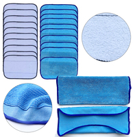 20pcs 10 Wet 10 Dry Washable Reusable Replacement Mopping Cloths Cleaning Cloth Cleaning Pad
