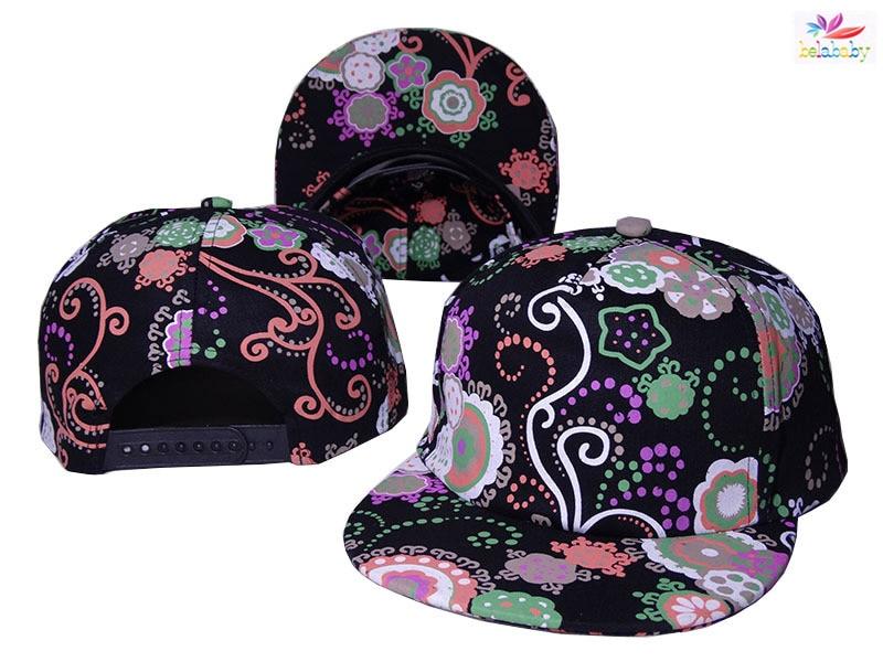 9882b311dd259 Belababy 2016 New Fashion Hats Shivering Floral Flower Pattern Baseball Caps  For Men Women Hip Hop