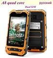 Original Mobile Phone MTK6582 Quad Core Dual SIM New A8 2GB RAM 16GB ROM IP68 Rugged Waterproof Phone Shockproof 3G GPS A9 V9D