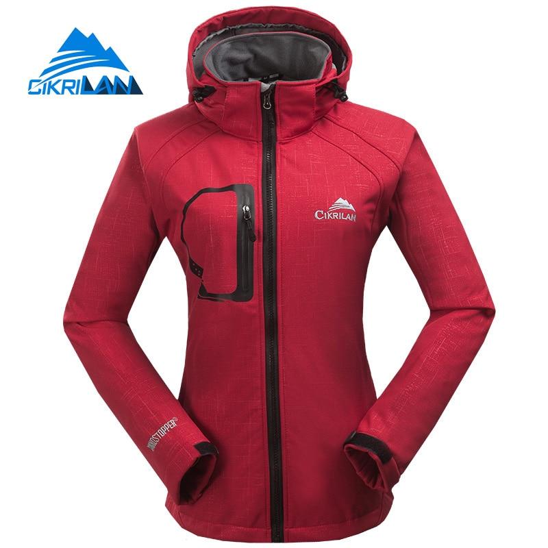 ФОТО Autumn Winter Outdoor Sport Water Resistant Windstopper Coat Hiking Camping Softshell Jacket Women Fishing Jaqueta Feminina