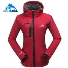Autumn Winter Outdoor Sport Water Resistant Windstopper Coat Hiking Camping Softshell Jacket Women Fishing Jaqueta Feminina