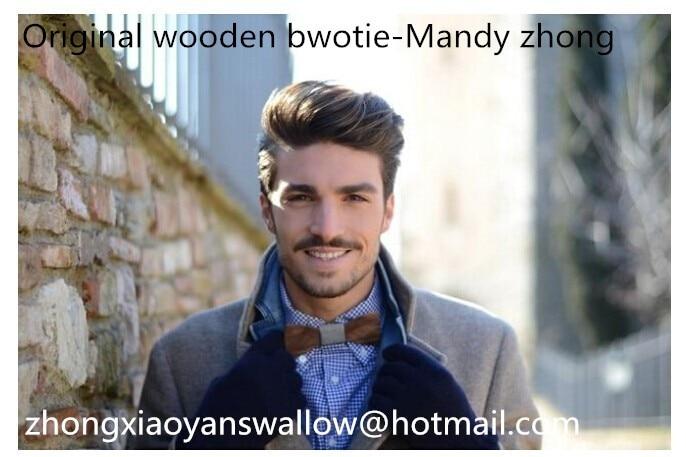 Модный деревянный галстук-бабочка, мужской и женский галстук-бабочка Свадебный банкетный галстук, Оптом
