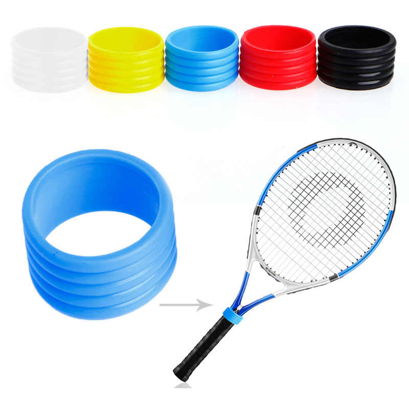 New Stretchy Tennis Racket Handle's Rubber Ring Tennis Racquet Band Overgrips  3
